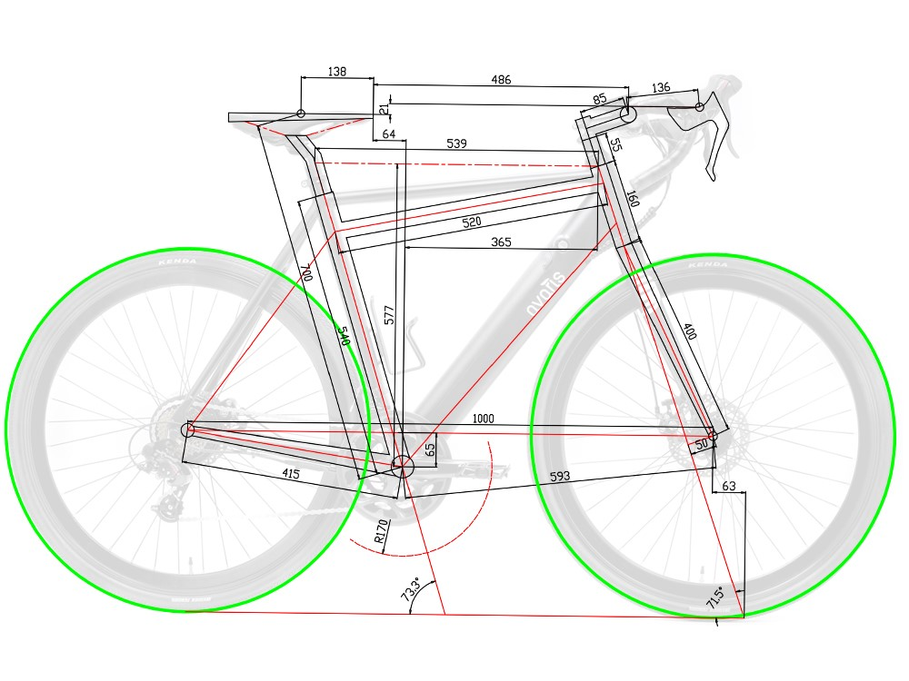 Avaris Ebike Geometry Medium