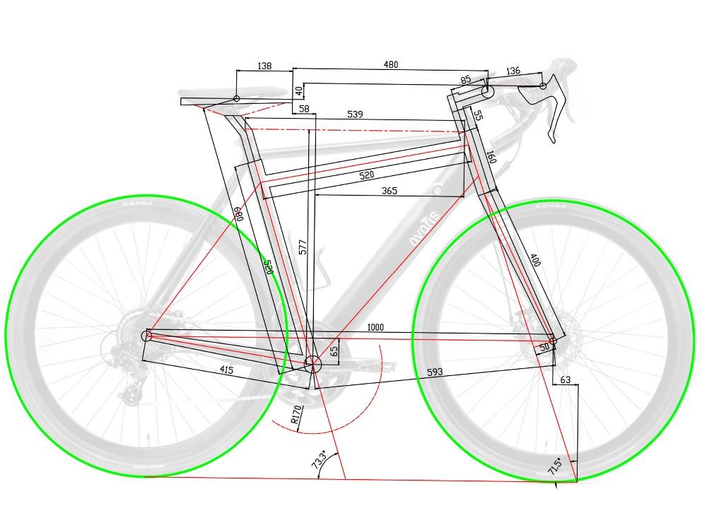 Avaris Ebike Geometry Small